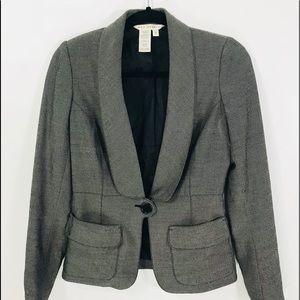 Max Studio SZ2 dark grey one button blazer trendy